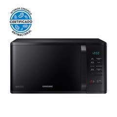 Microondas Samsung Negro con Esmalte Cerámico, 23 L, MS23K3513AK/ZS