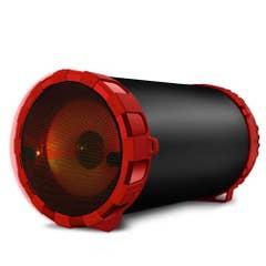 Parlante Zukabass + Micrófono Bluetooth Rojo