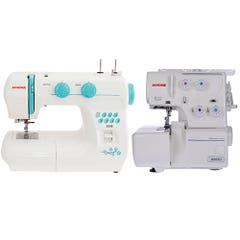 Pack Maquina de coser 3008 + Overlock 8002D Jano