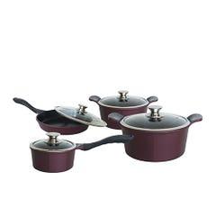 Baterías de Cocina Kitchenware 10 Piezas Cerámica Burdeo