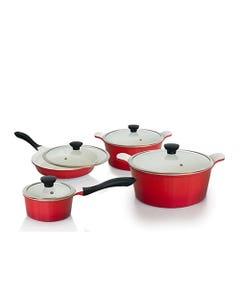 Baterías de Cocina Kitchenware 10 Piezas Cerámica Rojo
