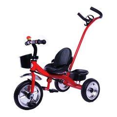 Triciclo Metálico Evergroup con Tirador Rojo