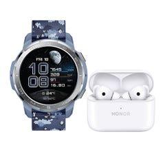 Bundle Honor Watch GS Pro Blue + Earbuds 2 Lite White