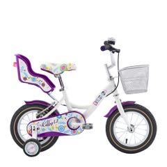 Bicicleta Bianchi Kitty Aro 12 Blanco/Lila