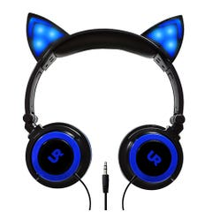 Audífonos Urbano Labs Orejas De Gato Azul