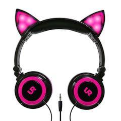 Audífonos Urbano Labs Orejas De Gato Rosado