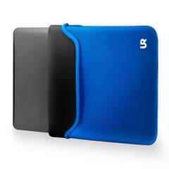 Funda Notebook Urbano Labs Reversible Azul/Negro 14