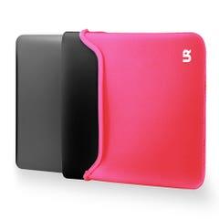 Funda Notebook Urbano Labs Reversible Fucsia/Negro 15