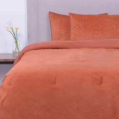 Plumón SoHome by Fabrics King Velvet Liso Naranjo