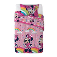 Plumón Disney-Minnie 1,5 Plazas Rell. 200 grs Minnie Rainbow