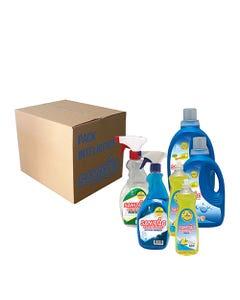 Pack Limpieza Sanitiao Antigrasa 1Lt, Limpiavidrios 1Lt, Lavalozas 1,5Lts, Detergente 6Lts