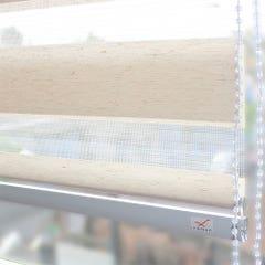 Cortina Vincenzi Roller Duo Lino Blanco Grain 180x240cm