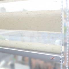 Cortina Vicenzi Roller Duo 120x240 Lino Blanco Oats