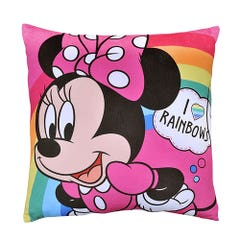 Cojín Velour Disney Est. Minnie Rainbow 40x40 cm