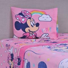 Sábana Disney 1,5 Plazas Minnie Rainbow