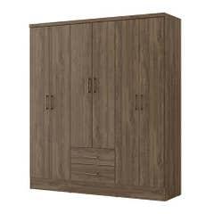 Closet Roca 6 Puertas 2 Cajones Felicce Nogal