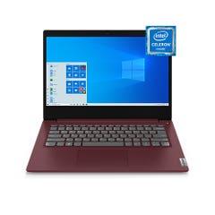 "Notebook Lenovo Ideapad 3i 14"" Intel Celeron N4020, 4G RAM, 500GB 14IN Red"