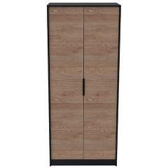 Clóset Ankara Store 2 Puertas Negro/Miel B2003