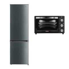 Refrigerador Frío Directo 267 L + Horno eléctrico Thomas TH-25N01 25 Litros Negro