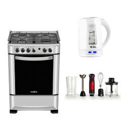 Cocina Mabe ANDES60TX4 4 Quemadores + Minipimer UT-KLOT400P + Hervidor UT-KLAR20PW 2 Lts