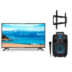 Led 42 KHFH4221 Smart TV + Karaoke Street Song 4 Mic Cable 8900 + Soporte TV 26-56 KTA02 Kioto
